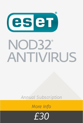 ESET Nod Antivirus £30 per year